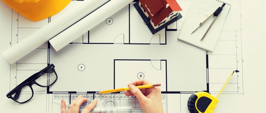 摄图网_300420702_wx_商业建筑建筑建筑人的用尺�铅笔测�客厅�图密切建筑师的手用尺�测��图�手(��业商用).jpg